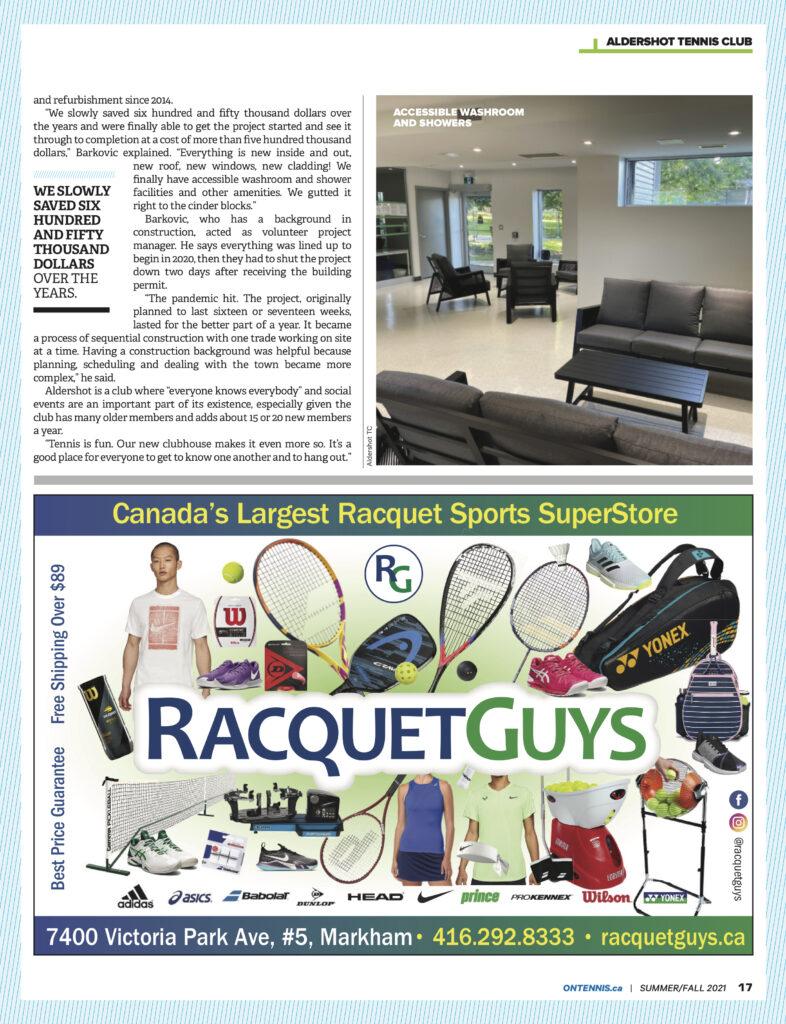 Ontario Tennis 2020 Summer-Fall 2021 4